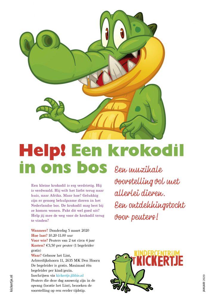 Help! Een krokodil in ons bos…